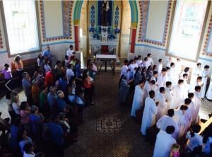 Missa de Encerramento das Missões em Rubião Júnior - Janeiro de 2014