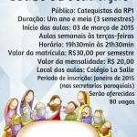 Escola Catequética da RP1 abre inscrições em janeiro