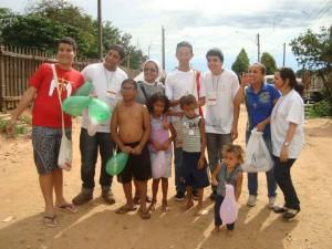 Foto: Santas Missões realizada em Rubião Júnior - SP em 2014.