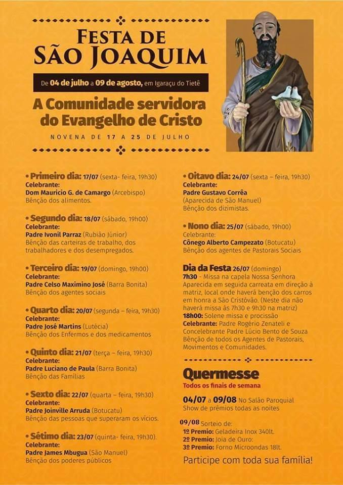 Festa de São Joaquim em Igaraçu