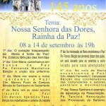 Festa de Nossa Senhora das Dores será celebrada no Santuário da Padroeira de Avaré
