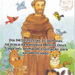 Paróquia Menino Deus realizará a Benção dos Animais na Festa de São Francisco de Assis