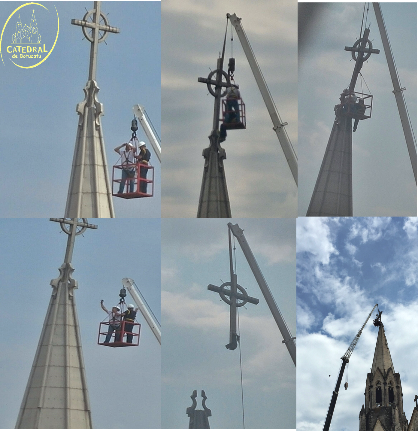 Catedral esclarece sobre a retirada da cruz de uma das torres, devido a danos causados pela ventania