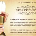 Horários das Missas em Laranjal Paulista, no dia de Finados