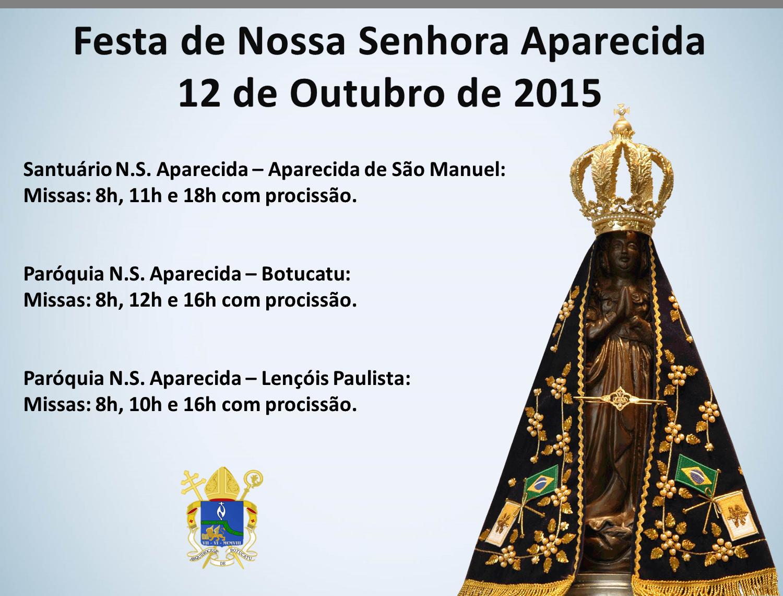 Festas Marianas Do Mês De Outubro Nossa Senhora Do: Festa Da Padroeira Do Brasil: Confira Os Horários De