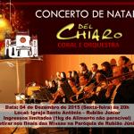 Concerto de Natal acontece dia 4 de dezembro em Rubião Júnior