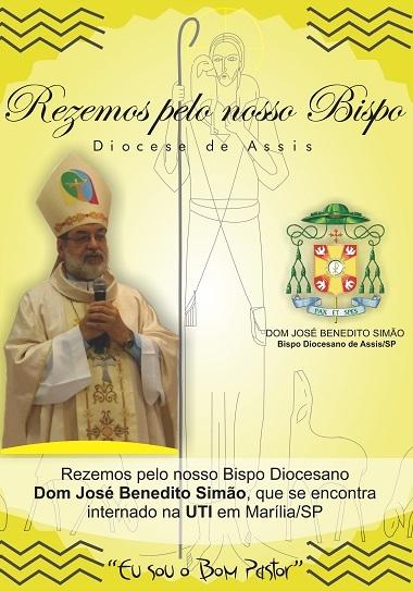 Diocese de Assis: Dom José Benedito Simão sofre um AVC e está internado na UTI