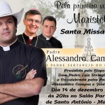 Paróquia de Maristela convida a todos para Missa com Dom Pedro Luiz Stringhini e Pe. Alessandro Campos