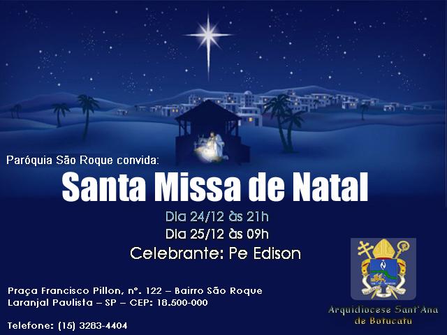 Missa de Natal dia 24 e 25 de 2015