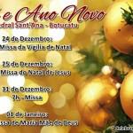 Celebrações de Natal e Ano Novo na Catedral de Botucatu