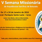 V Semana Missionária acontece entre 17 e 24 de Janeiro na cidade de Iaras