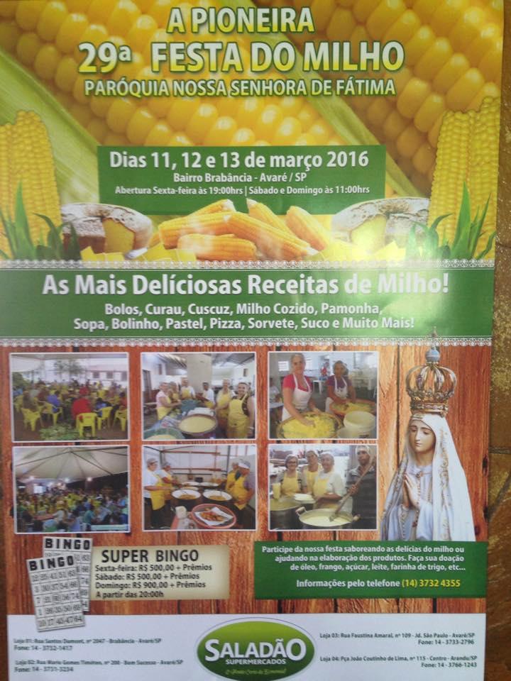 Festa do Milho será no próximo final de semana em Avaré
