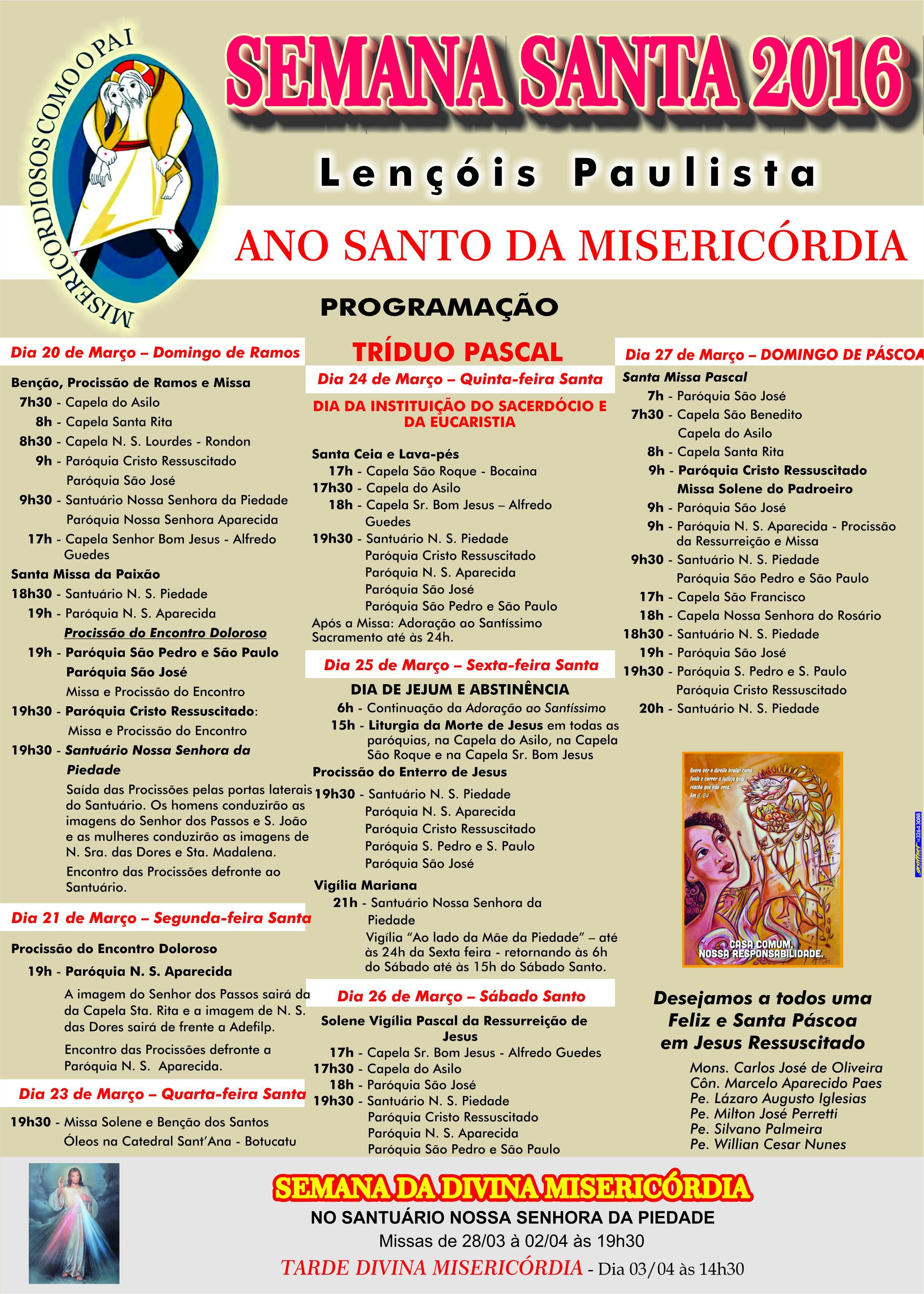 Cartaz Semana Santa - Lençóis Pta
