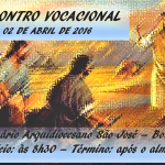 Encontro Vocacional será realizado no próximo sábado (02) no Seminário Arquidiocesano