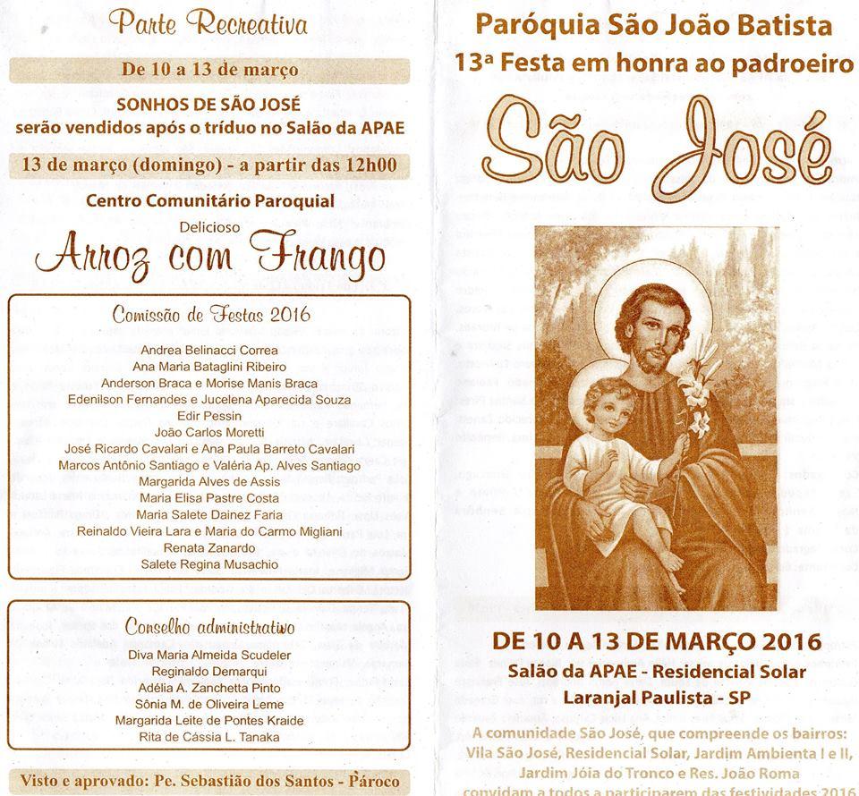 Festa de São José em Laranjal Paulista