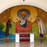Veja como ficou a pintura realizada no presbitério da Matriz Santo Antônio de Macatuba – SP