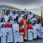 Paróquia N.S. de Fátima investiu novos coroinhas e acólitos em Botucatu