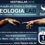 Inscrições abertas para o processo seletivo do curso bacharel em Teologia a distância pela  FAJOPA