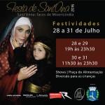Programação festiva da Festa de Sant'Ana começa nesta quinta-feira, 28