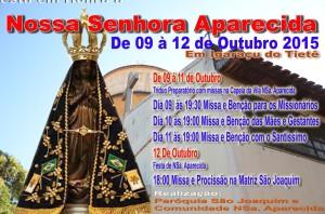 Igaraçu do Tietê celebrará Festa de Nossa Senhora Aparecida