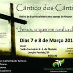 Retiro de Espiritualidade para membros da RCC acontece no final de semana
