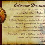 16 de dezembro tem ordenação diaconal na Catedral