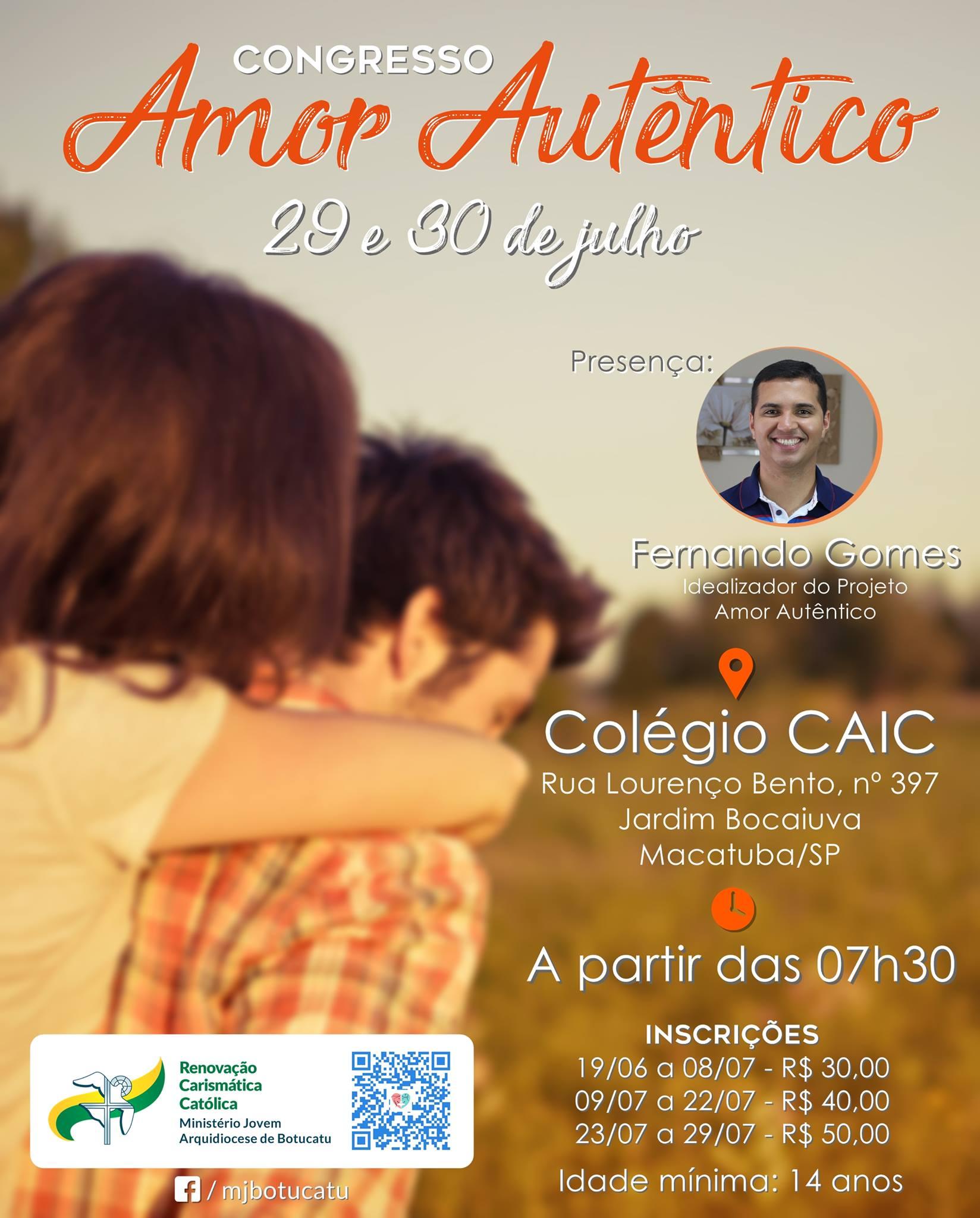 Retiro Amor Autêntico é o próximo encontro aberto da RCC Arquidiocese de Botucatu