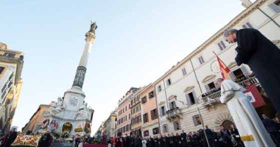Papa fará homenagem à Imaculada Conceição na solenidade desta sexta