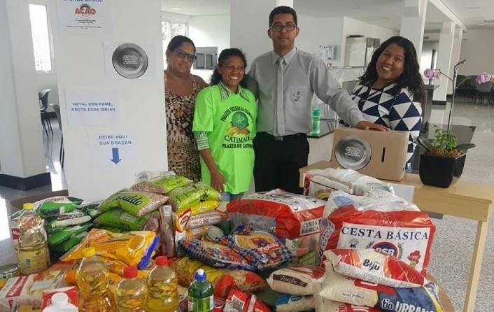 Campanha Natal Sem Fome arrecada 132 kilos de alimentos na sede da CNBB