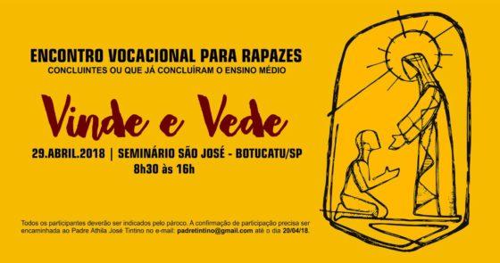 Pastoral Vocacional arquidiocesana promove encontros para moças e rapazes