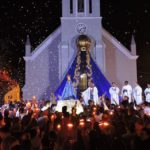 Milhares de romeiros participam da Festa de Aparecida de São Manuel nesta quarta (15)