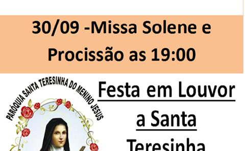 Paróquia de Botucatu celebra sua padroeira Santa Teresinha do Menino Jesus