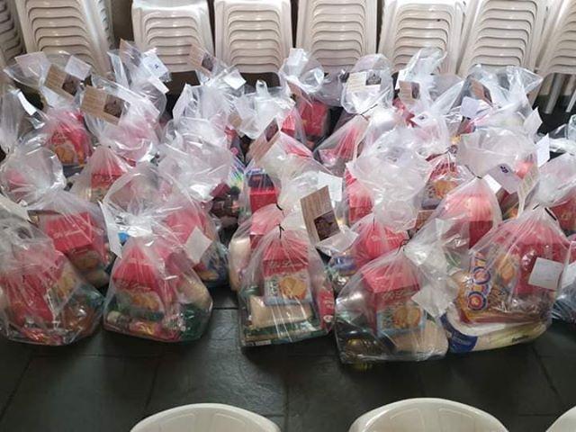 Santuário Nossa Senhora da Piedade distribuiu cestas de Natal.