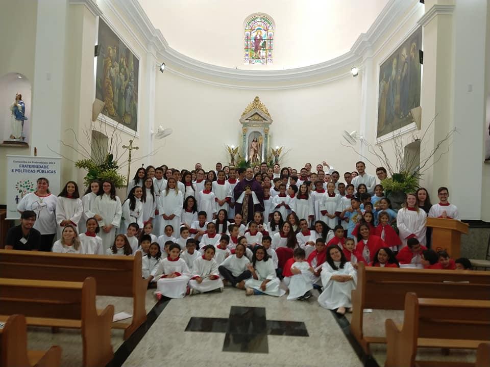 2° encontro Regional de Acólitos e Coroinhas da RP1 aconteceu em Itatinga