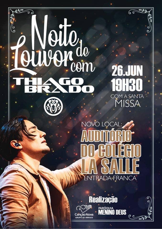 Noite de louvor com Thiago Brado acontecerá em Botucatu