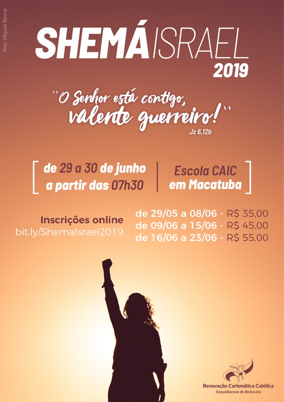 Shemá Israel é o próximo evento da juventude carismática na Arquidiocese de Botucatu