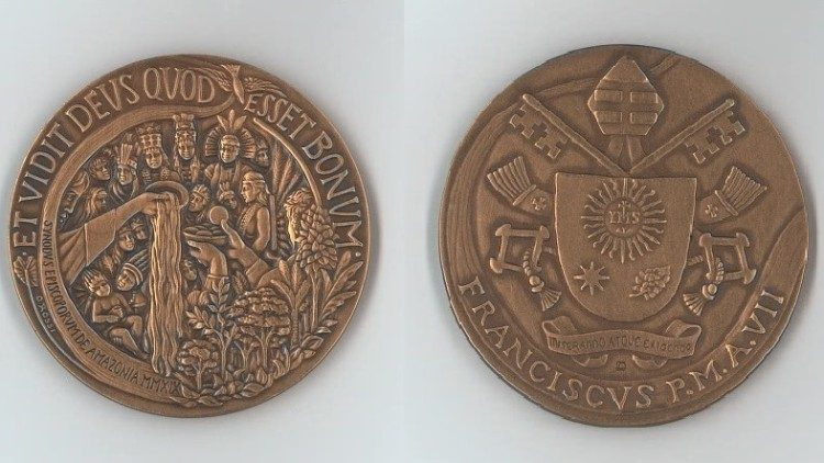 Medalha do 7º ano de Pontificado de Francisco faz homenagem ao Sínodo Amazônico
