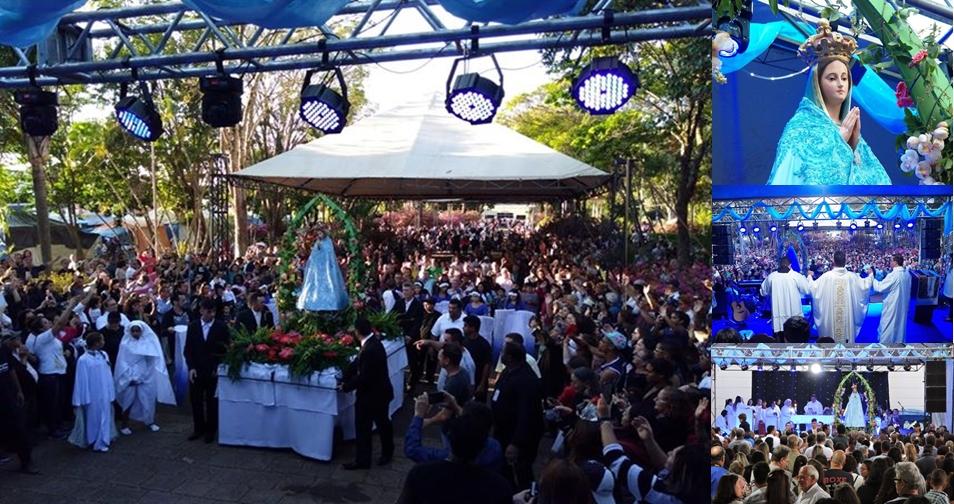 Festa da Padroeira reuniu milhares de romeiros no Santuário de Aparecida de São Manuel