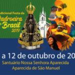 Festa da Padroeira do Brasil será comemorada no Santuário de Aparecida de São Manuel