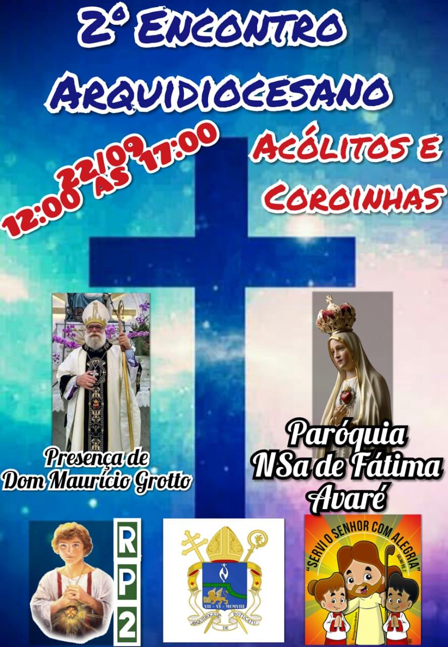 2º Encontro Arquidiocesano de Coroinhas e Acólitos da Arquidiocese Santana de Botucatu