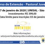 Curso de extensão da Pastoral Juvenil acontecerá em janeiro