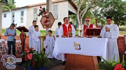 Dom Maurício celebrou missa em ação de graças pelos 10 anos da AFRAC-Emaús em Laranjal Paulista