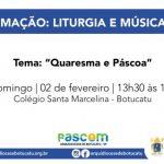 """Formação sobre Liturgia e Música terá como tema """"Quaresma e Páscoa"""""""