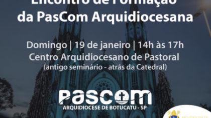 PasCom realizará Encontro de Formação no próximo domingo (19)