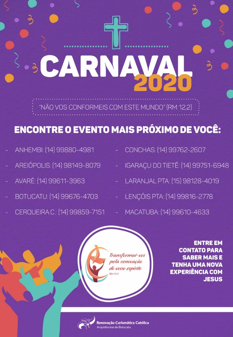 Renovação Carismática Católica realiza Eventos de Carnaval pelas cidades da Arquidiocese de Botucatu