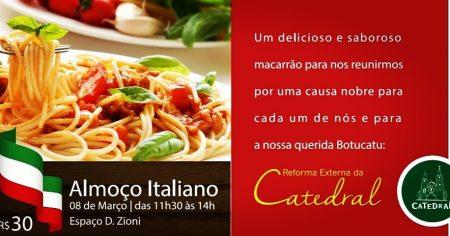 Catedral promove Almoço Italiano em prol da reforma externa
