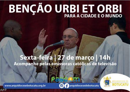 Junte-se à bênção especial do Papa Francisco ao mundo nesta sexta