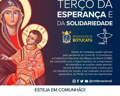 CNBB convoca todos os brasileiros a rezarem juntos o terço nesta quarta-feira, dia 18