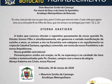 Eterna gratidão Padre Orestes Gomes Filho