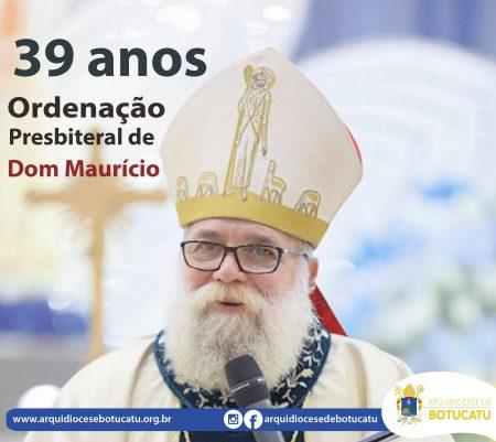 Dom Maurício comemora 39 anos de Ordenação Presbiteral